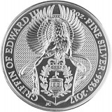 Queens Beast Griffin 2oz Silber - 2017