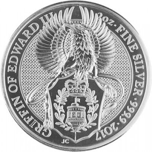 Queens Beast Griffin 2oz Silver - 2017