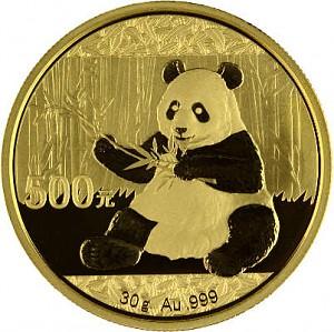 China Panda 30g Gold - 2017
