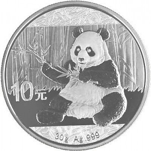 China Panda 30g Silber - 2017