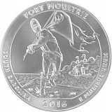 America the Beautiful - South Carolina Fort Moultri Monument 5oz Silber - 2016