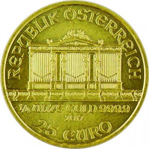 Wiener Philharmoniker 1/4oz Gold - 2017