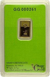 Gold Bar 2,5g - Green Gold VALCAMBI
