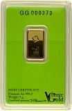 Goldbarren 5g - Green Gold VALCAMBI