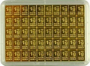 Goldbarren - Recycling Tafelbarren - CombiBar 50g (50x 1g)