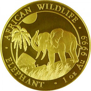 Somalia Elefant 1oz Gold - 2017
