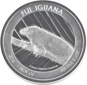 Fidji Iguana 1oz d'argent fin -– 2016
