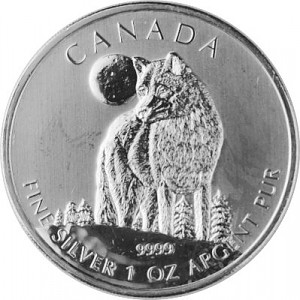 Canadian Wildlife Timber Wolf 1oz Silver - 2011 - B-Stock
