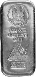 Silberbarren Münzbarren Heraeus Fiji 500 Gramm Silber - 2015