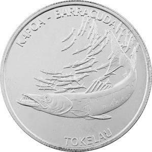 Tokelau Barracuda 1oz Silber - 2017