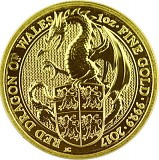 Queens Beasts Red Dragon 1oz Gold - 2017
