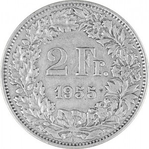 2 Schweizer Franken 8,35g Silber (1874 - 1967)