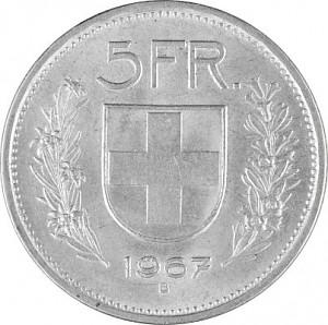 5 Schweizer Franken 12,5g Silber (1931 - 1967, 69)