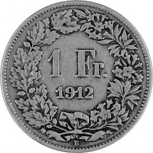 1 Schweizer Franken 4,175g Silber (1875 - 1967)