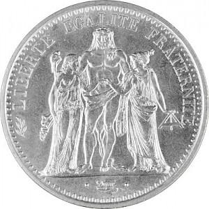 10 Franc France 'Hercules' 22,5g Silver (1964 - 1973)