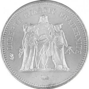 50 Franc Frankreich 27g Silber (1974 - 1980)