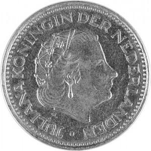 1 Gulden Pays-Bas Juliana 1967 - 1980 0g d'Argent