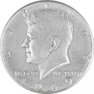 ½ US-Dollar Kennedy 4,6g Silber (1965 - 1970)