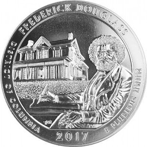 America the Beautiful - Columbia Frederick Douglass 5oz Silber - 2017