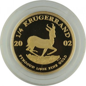 Krugerrand 1/4oz d'or fin Proof - 2002