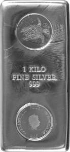 Silberbarren Münzbarren Schildkröte Niue Turtle 1 Kilogramm Silber - 2016
