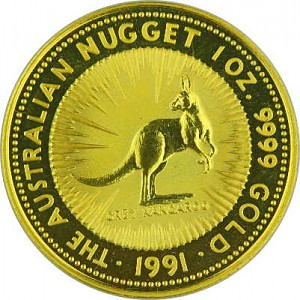 Australian Kangaroo 1oz Gold - 1991