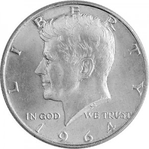 ½ US-Dollar Kennedy 11,25g Silber - 1964