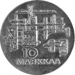 10 Markkaa Finnland 21,38g Silber - 1967