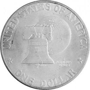 1 US-Dollar Eisenhower 9,9g d´argent (1971 - 1976)