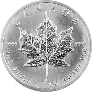 Maple Leaf 1oz Silber - 1988