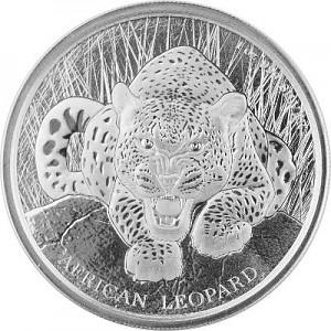 Africa Ghana Leopard 1oz Silver - 2017