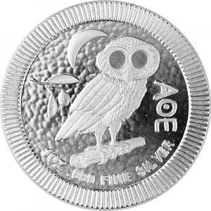Niue Athener Eule 1oz Silber -  B-Ware