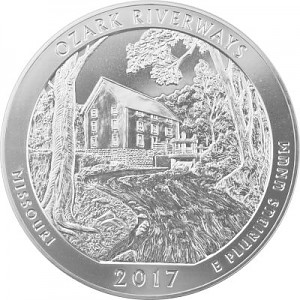 America the Beautiful - Missouri Ozark Riverways 5oz Silber - 2017
