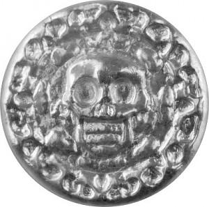 """Totensilber """"Plata muerta"""" 3D-Barren 25g Silber, handgegossen"""