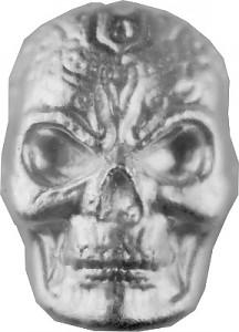 'Celtic Skull' 3D-Barren 1oz Silber, handgegossen