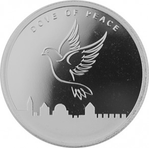 Israel - Jerusalem Dove of Peace 1oz Silver - 2017
