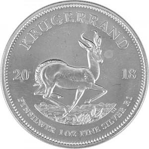 Krügerrand 1oz Silber - 2018 B-Ware