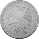 Incuse Indianer Round Silbermedaille 1oz Silber