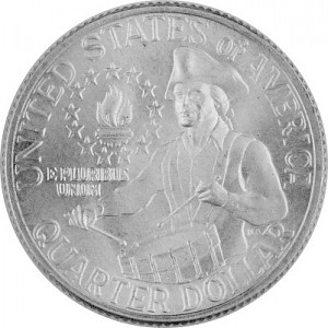 ¼ US-Dollar Washington Trommler 2,3g Silber - 1976