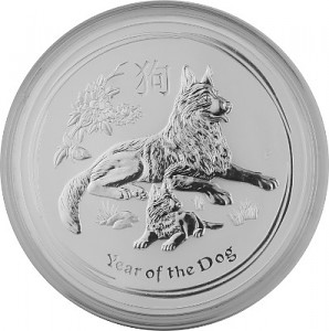 Lunar II Hund 1kg Silber - 2018