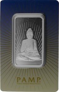Lingot  PAMP ''Bouddha'' 1oz d'argent fin (TVA normale)