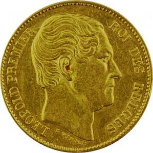 20 Francs belges Leopold I 5,81g d'or fin