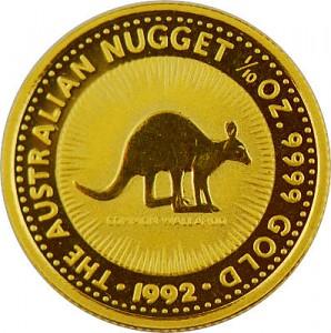 Australian Kangaroo 1/10oz Gold - 1992