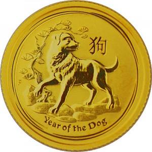 Lunar II Year of the Dog 1/10oz Gold - 2018