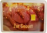 Goldbarren 1g - Flipmotiv 'Zur Geburt'