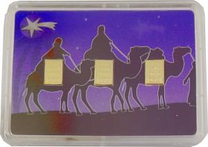 Goldbarren 3x1g - Flipmotiv 'Heilige 3 Könige'
