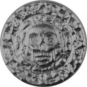 """Totensilber """"Plata muerta"""" 3D-Barren 50g Silber, handgegossen"""