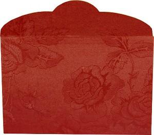 Geschenk-Umschlag 'Rot' für Barren - Rosen Motiv