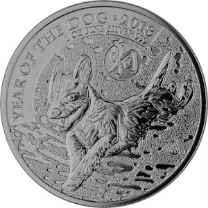 Lunar UK Hund 1oz Silber - 2018