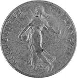 50 Centime Frankreich 2,09g Silber (1897 - 1920)